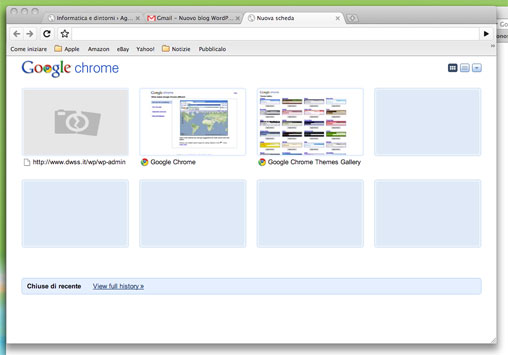 Una finestra di Google Chrome per Osx